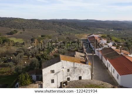 Landscape of Portel village.Portugal. - stock photo