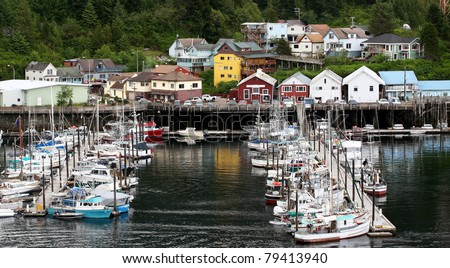 Landscape of Quiet moorage in Ketchikan Alaska