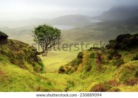 Landscape of Scottish, Isle of Skye, Scotland. UK. - stock photo