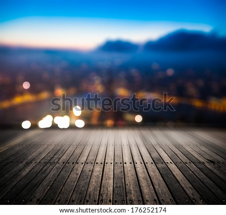 landscape of shanghai china at night. - stock photo
