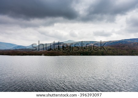 Landscape of Snowdonia National Park, Wales, UK.