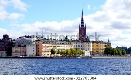 Landscape of Stockholm oldtown city, Sweden