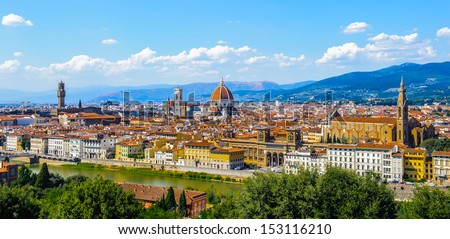 Landscape of the Florence, Italy - stock photo