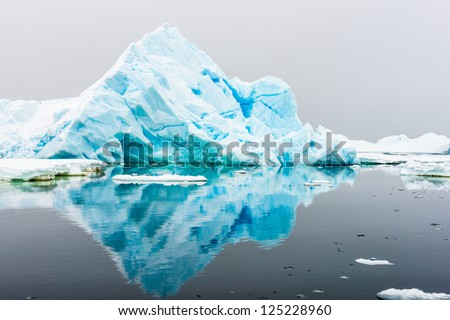 Landscape of the ice berg in Antarctica. - stock photo