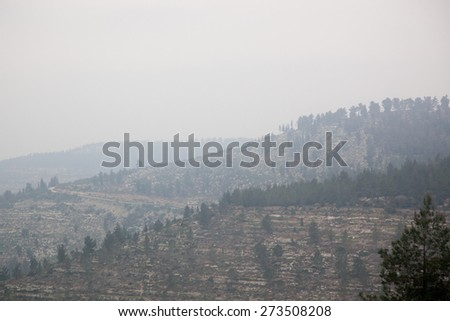 Landscape of the Middle East, CIRCA February 2015 - stock photo