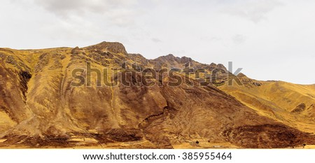 Landscape of the mountains in Peru