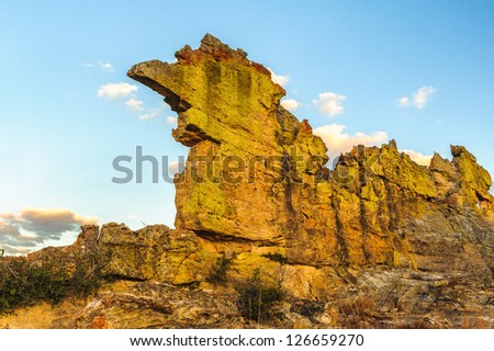 Landscape of the mountains of Madagascar - stock photo