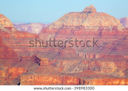 Landscape of the rugged Grand Canyon of Arizona for texture or background - stock photo