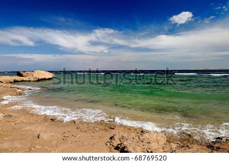 Landscape of the sea - stock photo