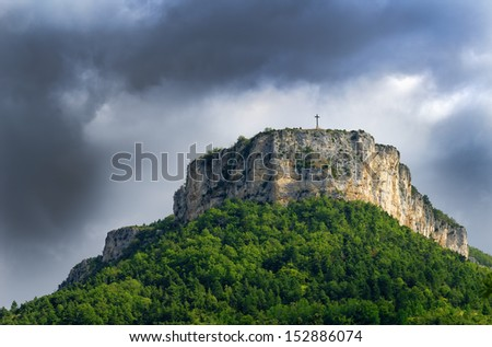landscape of the Vercors in France
