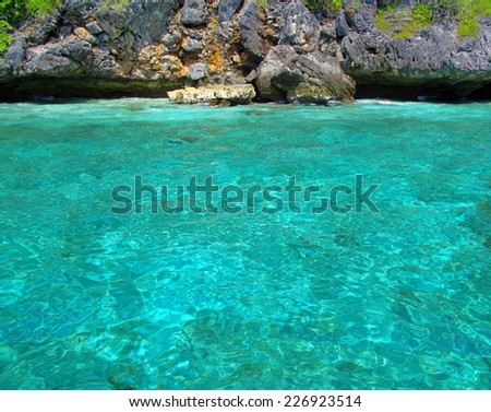 landscape of tropical island Thsiland - stock photo