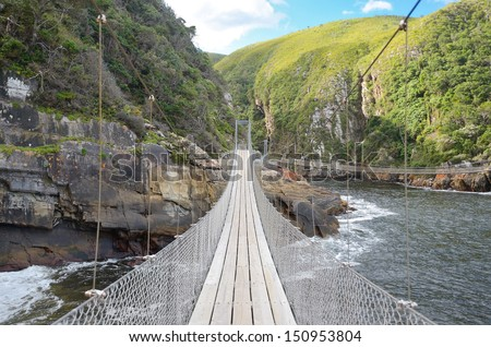 Landscape of Tsitsikamma national park, Garden route, South Africa  - stock photo