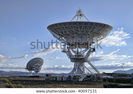 Landscape of Very Large Array of Radio Telescopes in New Mexico, USA.