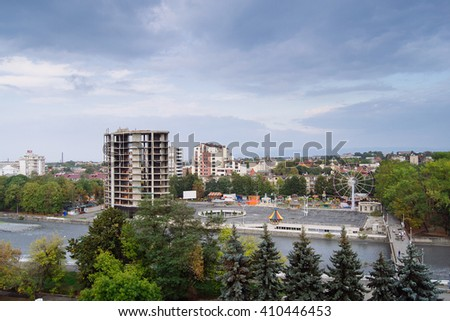 landscape of Vladikavkaz city  in  North Ossetia - Alania, Russia
