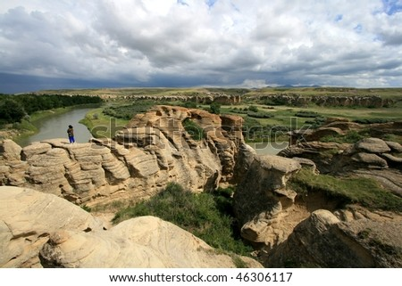 Landscape of Writing-On-Stone Provincial Park, Alberta, Canada.