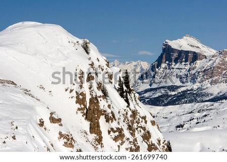 Landscape over the Dolomites, Italy - stock photo