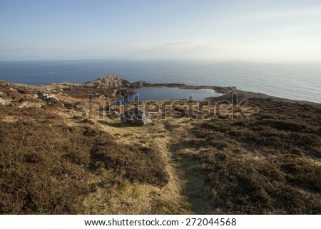 Landscape photo at the Slieve League cliffs in Co. Donegal in Ireland - stock photo