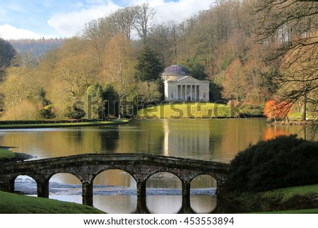 Lovely Landscape Photo Of The Pantheon And The Palladian Bridge In The Stourhead  Garden, Stourton, Awesome Design