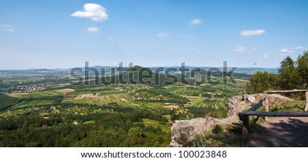 Landscape picture of an old volcanic area at Badacsony, lake Balaton, Hungary - stock photo