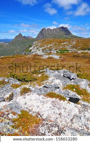 Landscape Scenery of Cradle Mountain National Park, Tasmania, Australia - stock photo