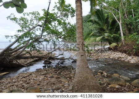 landscape shots on Cocos Island, Costa Rica