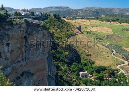 Landscape Spanish city Ronda - stock photo