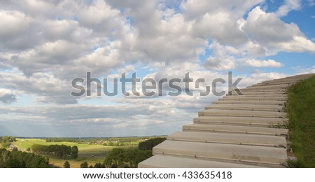 landscape stairway to heaven - stock photo