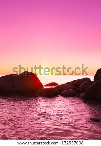 Landscape Stones Evening  - stock photo