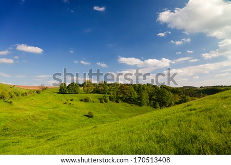 Landscape Thuringia in summertime - stock photo