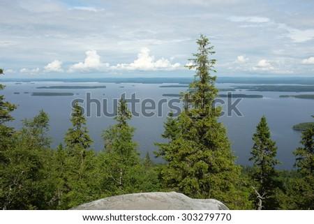 landscape, top view, Koli National Park, Finland - stock photo