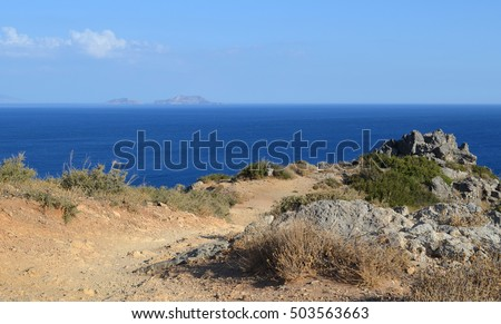 Landscape View from the top of Preveli Beach in Crete