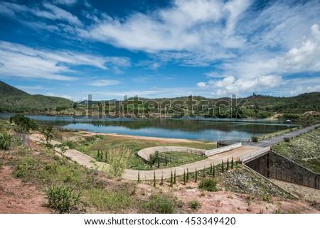 Landscape View of Doi Ngu Reservoir, Thailand - stock photo