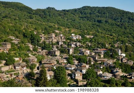 Landscape view of Kovatchevitsa village in Bulgaria - stock photo