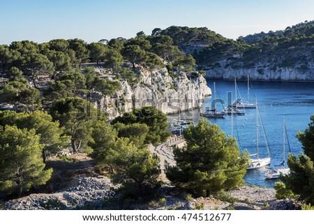 Landscape view on calanques in Cassis near Marseille, Provence, France.
