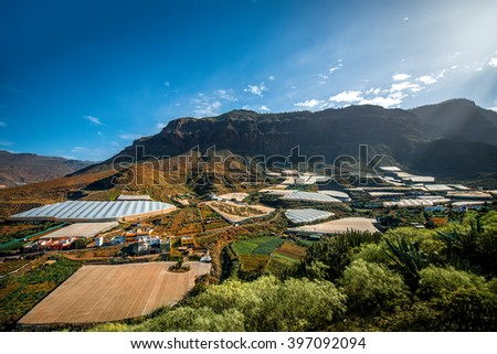 Landscape view on San Nicolas village on the west of Gran Canaria island in Spain