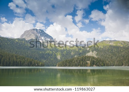 landscape with a mountain lake