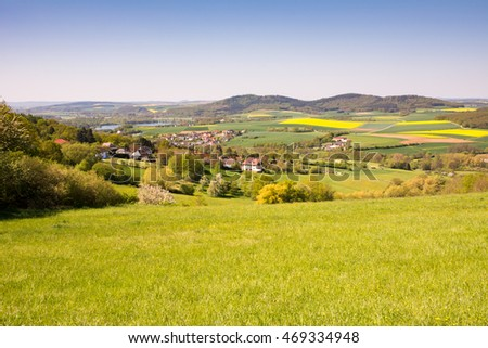 Landscape with a village in Franconia (Germany)
