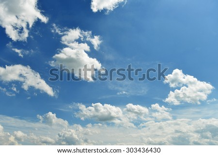 landscape with blue sky and cloud - stock photo
