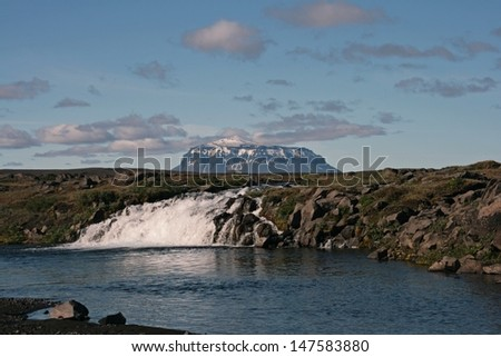 landscape with Mount Her�°ubrei�° - Iceland