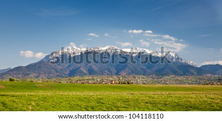 Landscape with mountains in the summer - stock photo