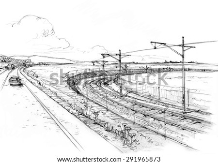 Landscape with railway