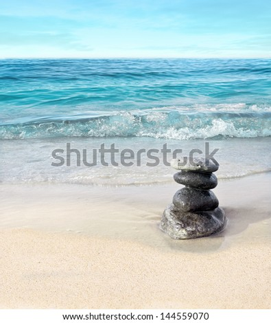 Landscape with stones - stock photo