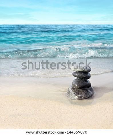 Landscape with stones - stock photo
