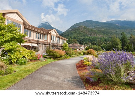 Landscaped Mountain-side Residential Community - stock photo