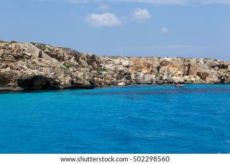 landscapes and coastlines of the island of Favignana