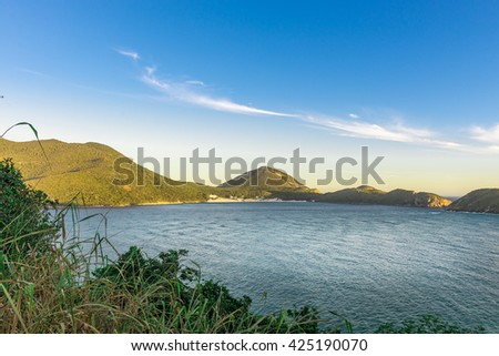 Landscapes and crystalline turquoise beaches of Pontal do Atalaia, Arraial do Cabo, Rio de Janeiro, Brazil. - stock photo