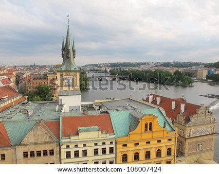 Landscapes and landmarks of Prague, Czech Republic