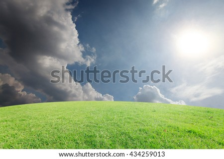 landscapes background blue sky with clouds retouch