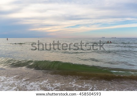 Landscapes Germany. Calm sunset on the Baltic Sea.
