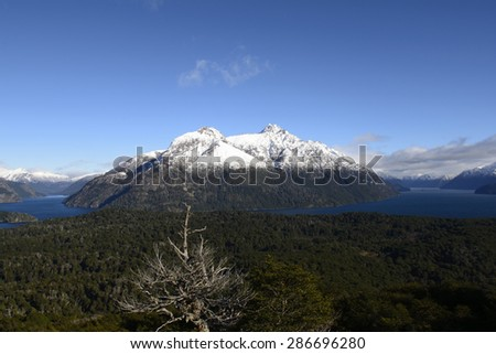 Landscapes of San Carlos de Bariloche, Argentina. - stock photo